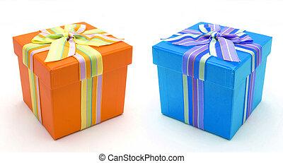 Beautiful colourful presents