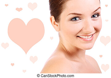 Beautiful confident woman smiling at the camera