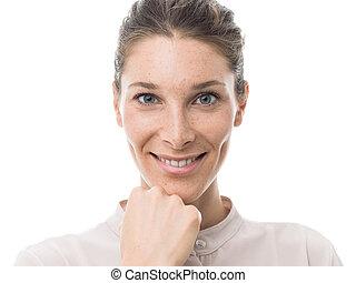 Beautiful confident woman