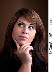 Beautiful Contemplative Woman