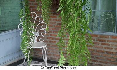Beautiful corner in coffee shop garden