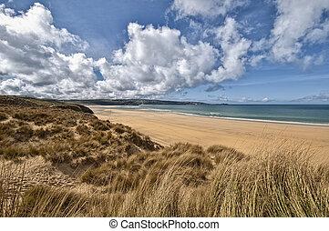 Beautiful Cornwall Beach Landscape