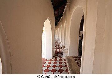 Beautiful corridor in Phra Pathom