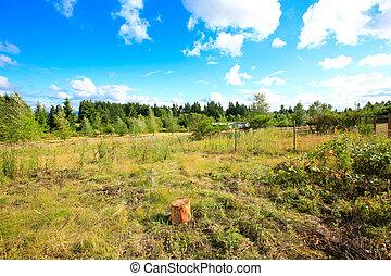 Beautiful countryside landscape. Late summer in washington ...