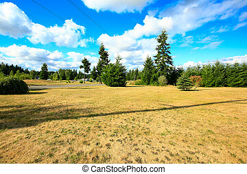 Beautiful countryside landscape. Late summer in washington state.