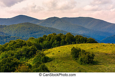beautiful countryside with forested rolling hills. lovely...