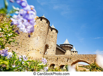 Beautiful Count's Castle in Carcassonne, France
