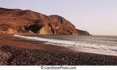 Beautiful Crimean landscape near cape Meganom (Full HD)