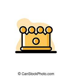 Beautiful Crown Conceptual Vector Illustration Design Icon