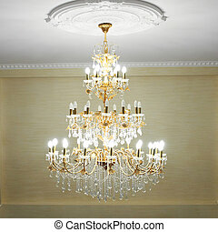 Beautiful crystal chandelier - Beautiful crystal ancient...