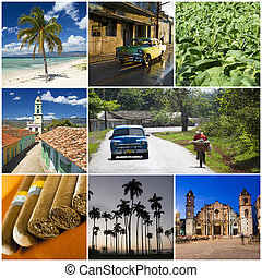 cuba - beautiful cuban collage made from eight photographs