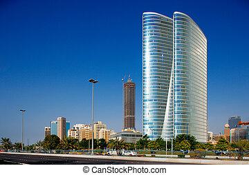 Beautiful curvilinear Architecture - The Corniche in Abu ...