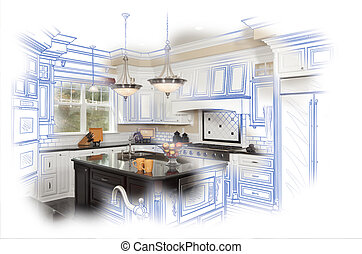 Beautiful Custom Kitchen Design Drawing and Photo...