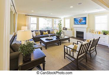 Beautiful Custom Living Room Interior