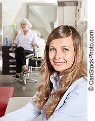 Beautiful Customer At Hair Salon