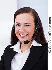 Beautiful Customer Service Representative