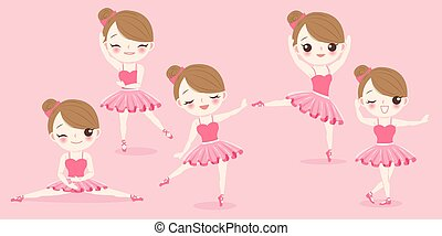 cartoon ballerina girl