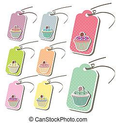 Beautiful cute cupcake tags