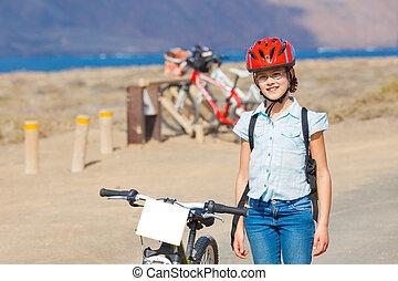 girl on bikes