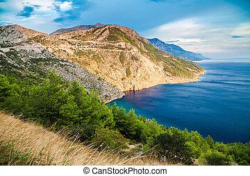beautiful Dalmatian coast, Makarska Riviera