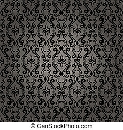 Damask Baroque Seamless Pattern Background