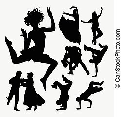 Beautiful dance silhouette