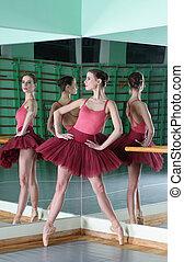 beautiful dancer ballerina with reflection
