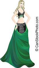 Beautiful dancer - Beautiful girl in enchanting belly dance...