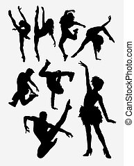 Beautiful dancer silhouette - Beautiful dancer pose...