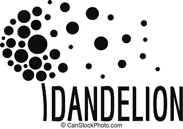 Beautiful dandelion logo icon, simple style.