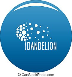 Beautiful dandelion logo icon vector blue