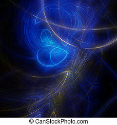 Beautiful dark blue fractal background