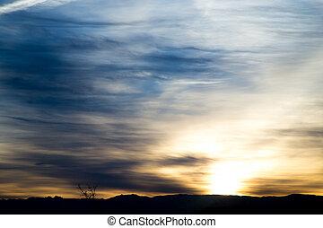 beautiful dawn sun in the mountains