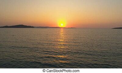 Beautiful Dawn. Sunrise Over The Sea Horizon