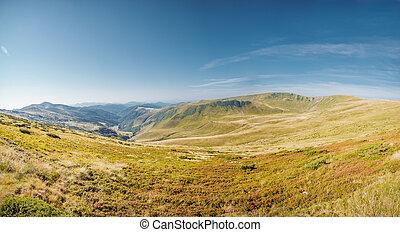 Beautiful day is in mountain landscape