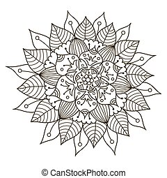 Beautiful Deco Floral Mandala. Vector Round Ornament Pattern