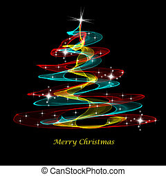 Merry Christmas - Beautiful decoration background of Merry...