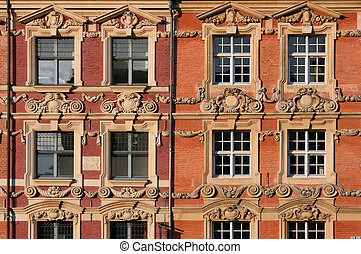 Lille - Beautiful decorative architecture in Lille, France. ...