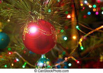 decorative multicolored ornaments