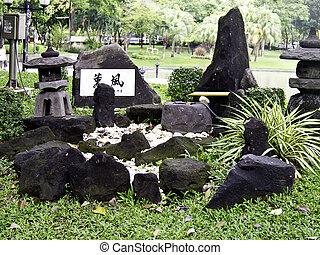 Beautiful decorative stone garden