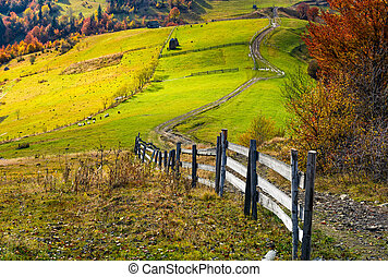 beautiful deep autumn countryside scene
