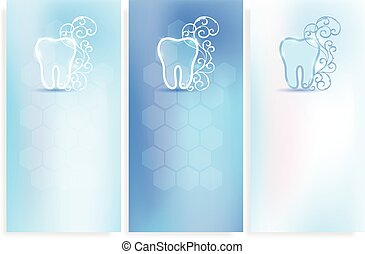 Beautiful dental background, tooth symbol