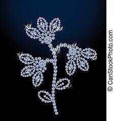 Beautiful diamond bellflower vector