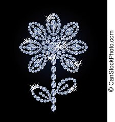 Beautiful diamond flower, vector