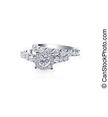 Beautiful diamond wedding engagment band ring solitaire -...