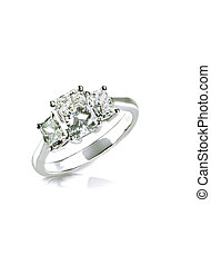 Beautiful diamond wedding ring set with multiple diamonds...