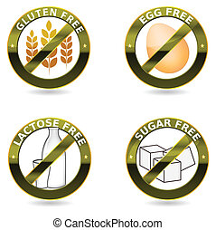 diet icon collection - Beautiful diet icon collection Gluten...