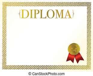 diploma - beautiful diploma ready to be customize