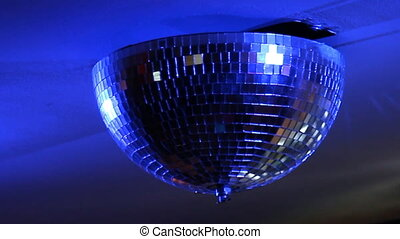Beautiful Disco Ball Spinning seamless with flares