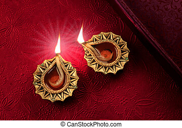 Beautiful Diwali Diya Lamp Lights